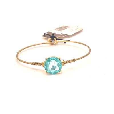 Bracelets Brinkley Round Latch Bangle In Aqua Light Steel Blue