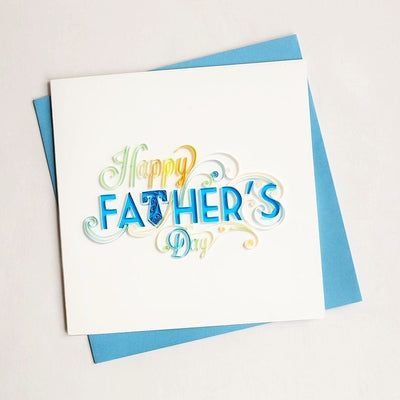 Father's Day Happy Father's Day Quilling Card Royal Blue