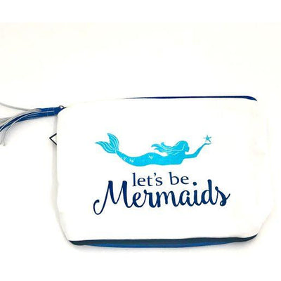 Totes and Bags Let's Be Mermaids Make Up Bag Turquoise