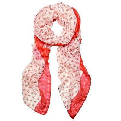 Seasonal Scarves Anchor Print Scarf Light Pink