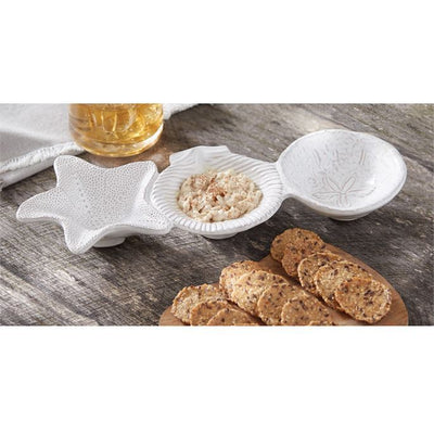 Decorative Bowls Shell Triple Dip Set Tan