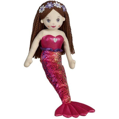 "Kids 18"" Shimmer Mermaid Fiona Maroon"