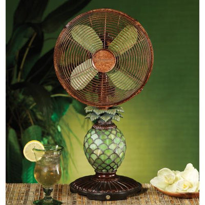 Tabletop Decor Tiffany Pineapple Fan Olive Drab