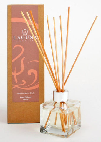 Essential Oil Reed Diffuser / Liquid Amber & Birch