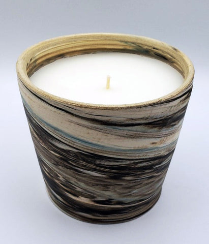 Multi Color Ceramic Straight-sided Candle