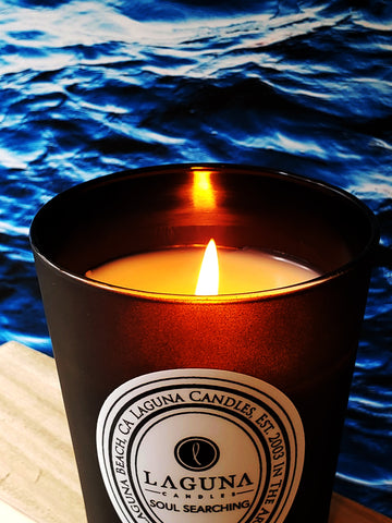 Soul Searching Black Matte Candle