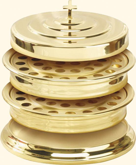 Communion Tray Cover: Brass