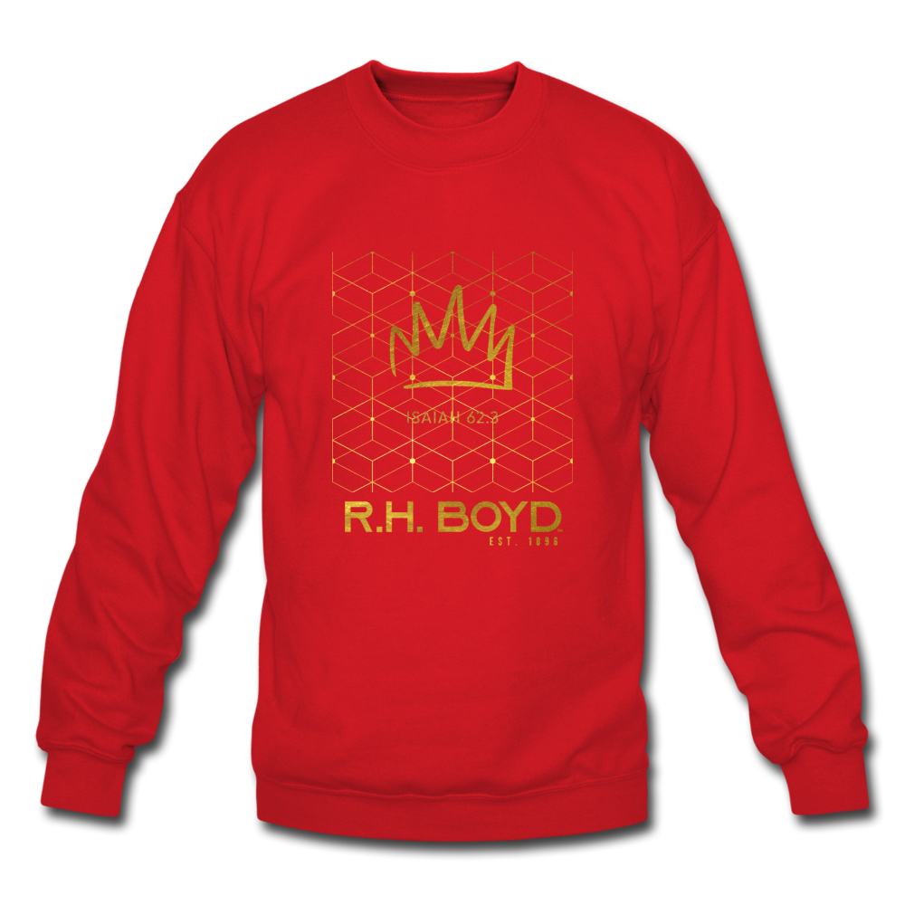 GILDED – Red/All Gold – Crewneck Sweatshirt - red