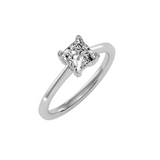 EcoMoissanite 1.15CTW Princess Colorless Moissanite Four Prong Basket Solitaire Engagement Ring
