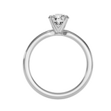 EcoMoissanite 0.99CTW Round Colorless Moissanite Four Prong Classic Solitaire Engagement Ring