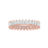 EcoMoissanite 2.07 CTW Princess Colorless Moissanite Eternity Ring