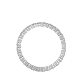 EcoMoissanite 1.12 CTW Round Colorless Moissanite Eternity Ring