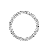 EcoMoissanite 1.09CTW Round Colorless Moissanite Eternity Ring