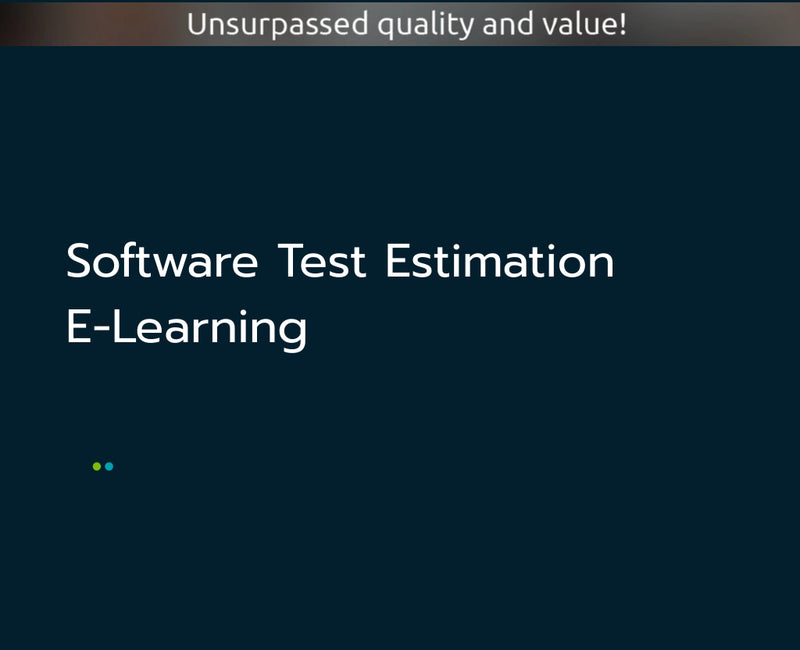 Software Test Estimation E-Learning
