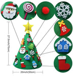 Childrens Creative Christmas Tree w/Glitter Ornaments🎄