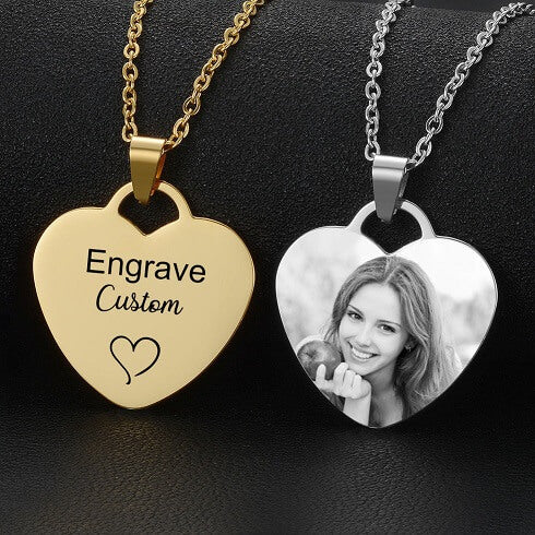 Custom Engraved Necklaces w/ photo and/or text