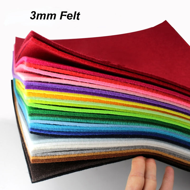 3mm Thickness 30x30cm Non Woven Felt For DIY