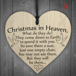 1Pc Christmas Wooden Plaque