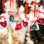 24 or 31pcs Christmas Countdown Calendar Candy Bags