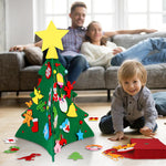 3D DIY Felt Christmas Tree with Ornaments