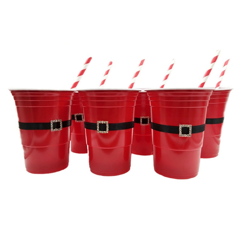 6PCS/SET Household Christmas Party Beer Pong Red Solo Cup