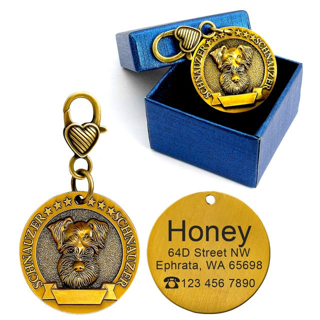 Dog ID Tag w/ personalized engravings