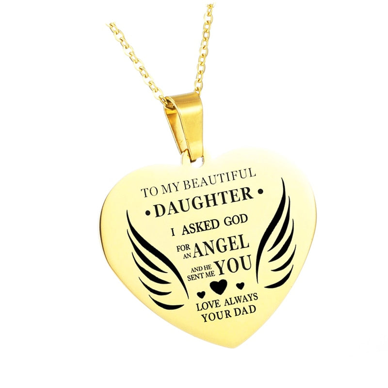 To My Daughter/Wife/Sister Necklace Jewelry