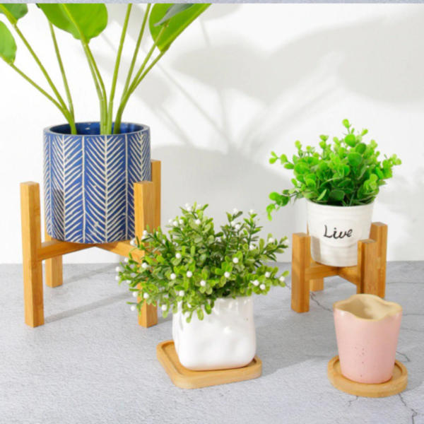 Wooden Plant Stand | Wood Flower Pot Holder