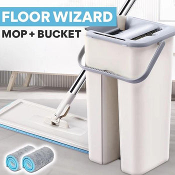 Floor Wizard | Mop with bucket | Self-Cleaning Mop