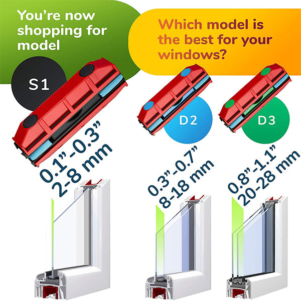 Magnetic Window Cleaner | Double & Single Glazing