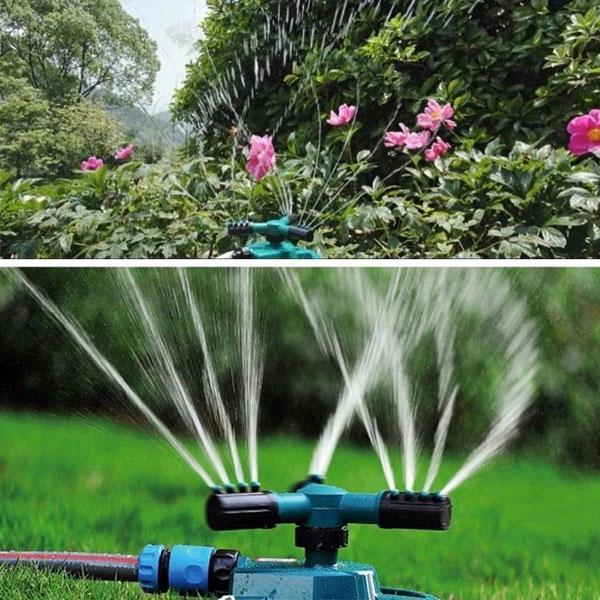 Automatic 360° Rotating Garden Sprinkler