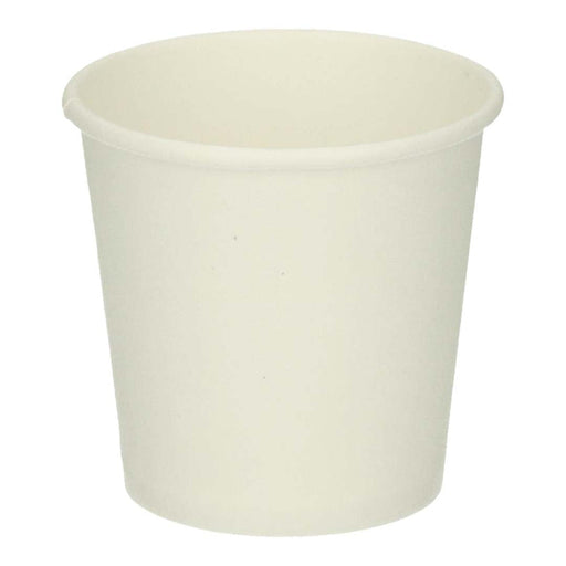 Kartonnen beker Hot PE 100 cc / 4 oz ø top 6.2 cm wit