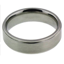 Load image into Gallery viewer, Brushed Silver Comfort Fit 6mm Personalized Name Ring