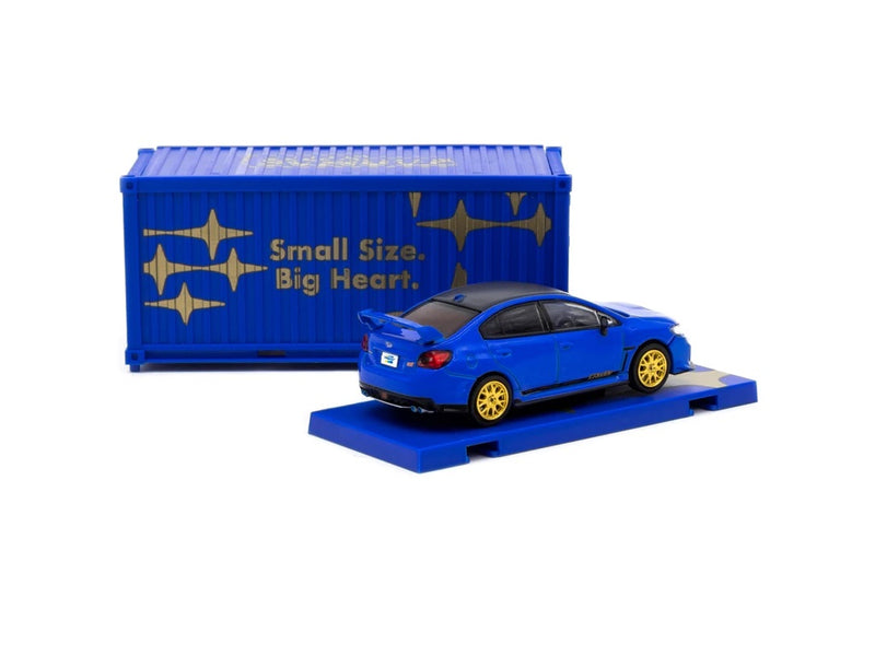 Subaru WRX STi EJ20 Final Edition Blue with Container