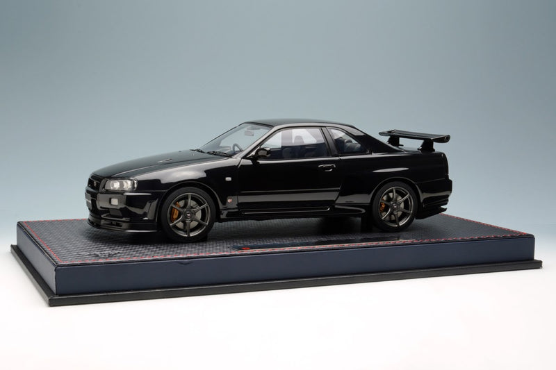 Nissan Skyline GT-R (BNR34) V-Spec II Black Pearl with Acrylic Case