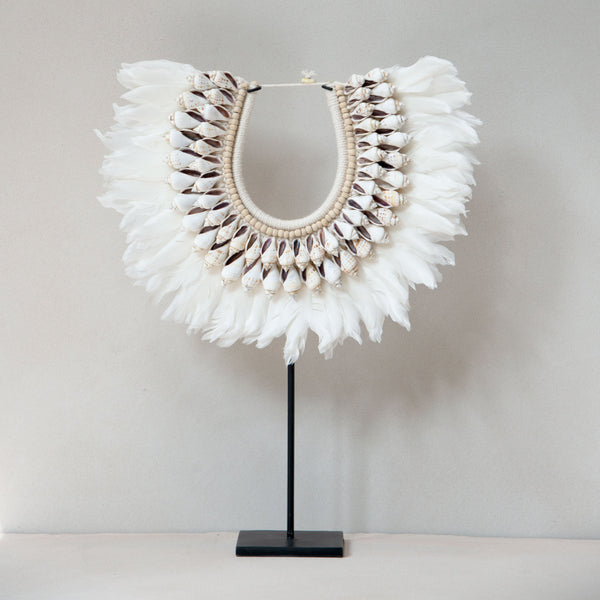 Feather Necklace on Stand
