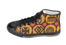 Load image into Gallery viewer, Adinkra Hi-Tops| African Fashion Shoes | SoulSeed Apparel