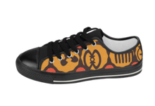 Load image into Gallery viewer, Black, Yellow & Orange Adinkra Sneakers
