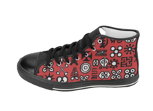 Load image into Gallery viewer, Adinkra Hi-Tops | African Print Shoes | Soulseed Apparel