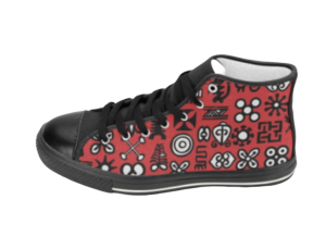 Adinkra Hi-Tops | African Print Shoes | Soulseed Apparel