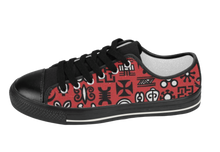 Load image into Gallery viewer, Black & Red Adinkra Sneakers