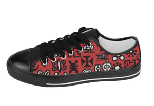 Black & Red Adinkra Sneakers
