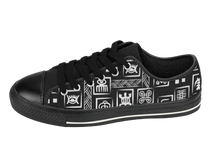 Load image into Gallery viewer, Black & White Adinkra Sneakers