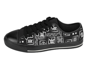 Black & White Adinkra Sneakers