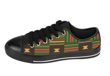 Load image into Gallery viewer, Kente Cloth Tennis shoes | African Fashion | SoulSeed Apparel