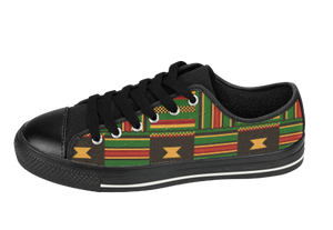 Kente Cloth Tennis shoes | African Fashion | SoulSeed Apparel