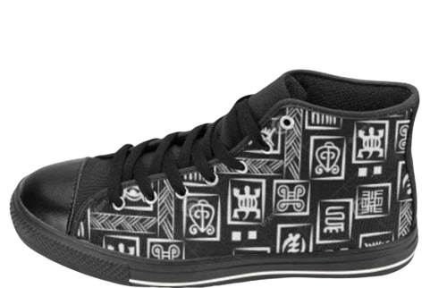 Adinkra Hi-Tops | African Fashion | Soulseed Apparel