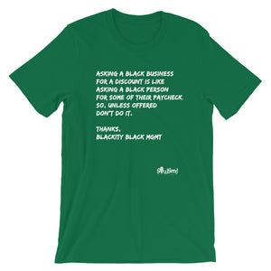 Black Business Etiquette T-Shirt