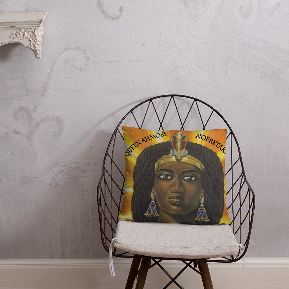 Queen Ahmose Nofretari Pillow