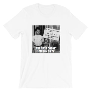 "First Woke Person on TV ""Michael Evans"" T-Shirt"